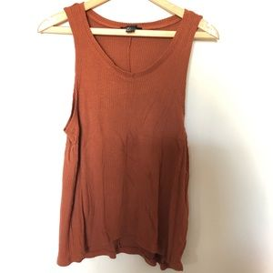 Forever 21 burnt orange copper rubbed tank top